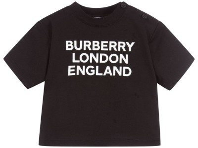 9020store Burberry Baby Black Logo T-Shirt