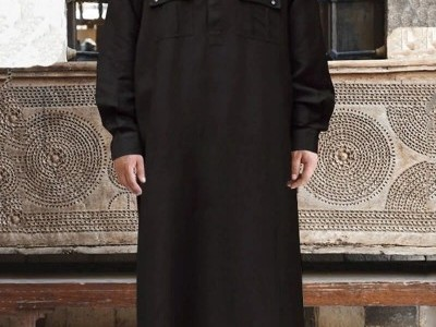 Muslim Kaftan Hooded Long Sleeve Robes 10